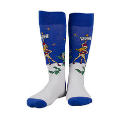 Cotton And Acrylic Warm Winter Accessories Colorful Fancy Cozy Christmas Socks