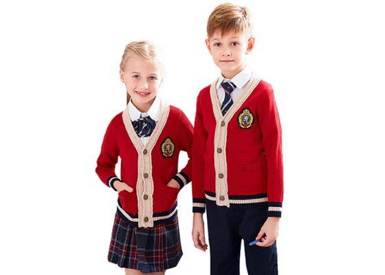 School Uniform Kids Children Boys Girls Fleece Sweat Cardigan UK V-Neck