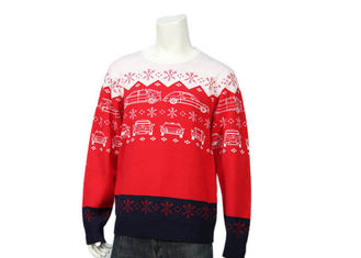 China Custom Knitting Jacquard Patterns Snowflake Acrylic Christmas Jumper For Men supplier